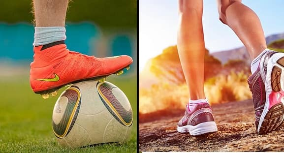 Football Shoes Vs. Running Shoes